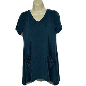 LOGO by Lori Goldstein Washed Jersey Knit Top XS